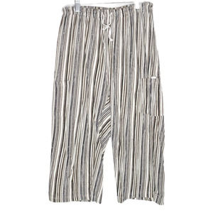 Lulu-B Brown Striped Wide Leg Pants Large